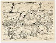 Stampendous 花栗鼠零食屋鼠标橡胶印章