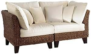 Panama Jack Sunrooms Sanibel Loveseat with Cushions Skyfall Ocean