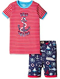 Hatley 男孩款有机棉短袖 appliqué pyjama 套装