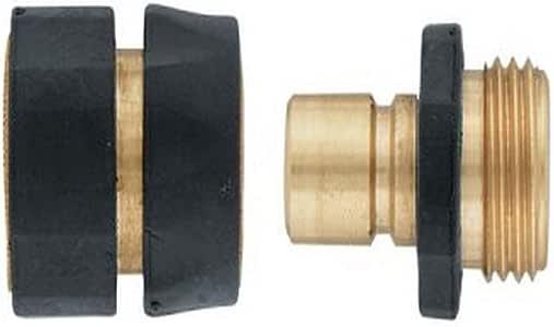 Orbit 黄铜快速连接套装,带自动关闭花园水管 - 58285N 黑色 B0013I71H8