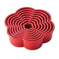 Cake Boss 装饰工具 8 件。 红色尼龙雏菊软糖和饼干模具套装 红色 None 59468