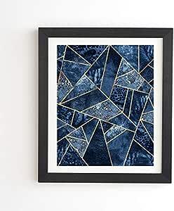 Deny Designs Elisabeth Fredriksson 蓝色石框墙壁艺术,27.94 厘米 x 33.02 厘米,
