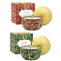 LA JOLIE MUSE 香味蜡烛 2 件套雪松木和肉桂南瓜,天然大豆蜡,冬季礼物系列,感恩节 Fir Cedarwood & Cinnamon Pumpkin