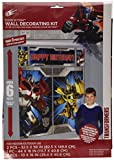 """Amscan Mighty Transformers Birthday Party Scene Setters Wall Decorating Kit (5 Piece), Yellow/Red/Gray/Blue, 59 x 65"""""""