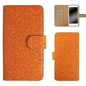 Whitenuts 佩斯利花纹 手机壳 翻盖式 橙色 4_ AQUOS PHONE ZETA SH-01H