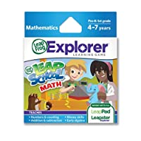 LeapFrog LeapSchool 數學學習游戲(與 LeapPad 平板電腦、LeapsterGS 和 Leapster Explorer 配套使用)