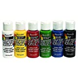 DecoArt DASK278 Crafter's Acrylics Primary Sample Pack