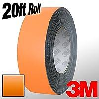 "VViViD 3M 1080 橙色哑光乙烯基细条纹胶带 20 英尺卷 1"" x 20ft 3mmatorngtape_1x20"