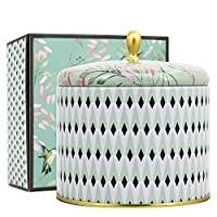 LA JOLIE MUSE 白色茶叶香味蜡烛 396.89g 芳香*大锡蜡烛 2 芯天然蜡,礼品蜡烛适合感恩节