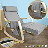 Haotian FST18-DG,舒适休闲摇椅,休闲椅,带可调脚垫和侧口袋