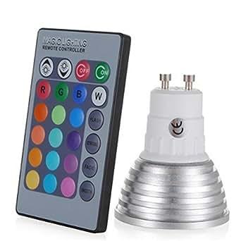 LightInTheBox 3W E27/E14/GU10 RGB 变色 LED 灯泡,带遥控器(85-265 伏) Gu10 S490450200004#E Packet#wh=