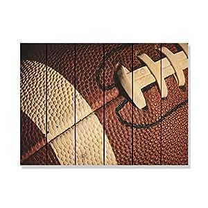 Gizaun Art 猪皮室内/室外墙壁艺术 棕褐色 33x24 PS3324