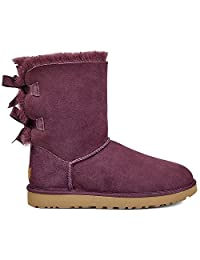 UGG 女式 BAILEY 蝴蝶结 II 冬季靴子 暗红色 10 B(M) US