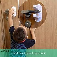 2 个门杆锁,儿童门锁门锁锁,儿童*锁闩,3M 胶带