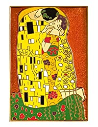 "Pinsanity""The Kiss""Gustav Klimt 珐琅翻领别针"