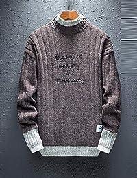 Goralon 秋冬季高领毛衣男韩版宽松男士针织衫潮流个性帅气毛线衣外套男外衣字母上衣外套