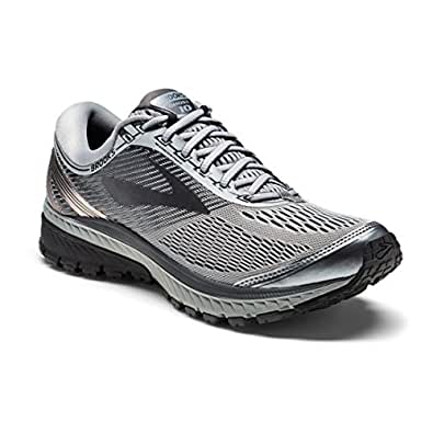 Brooks 男式 GHOST 10 gymnastics 女士鞋子 Primer Grey/Metallic Charcoal/Ebony 8 EE - Wide