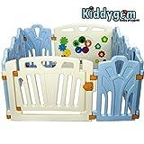 Kiddygem Puzzle and Beep Fun 儿童游戏场游戏栅栏,蓝色