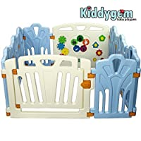 Kiddygem Puzzle and Beep Fun Baby 10 Panels Playpen, Blue