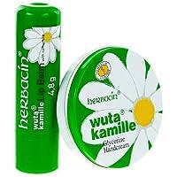 Herbacin 小甘菊经典护手霜20ml+敏感修护唇膏4.8g组合装(进)