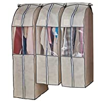 ASTRO 衣服罩 带内裆 米色 可以收纳于衣橱里! (西装用×2 长款×1) 600-22