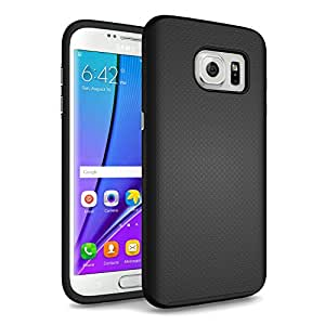 Galaxy S8 Case, technext020 Hybrid Scratch Resistant Back Cover with Shock Absorbing Bumper for Samsung Galaxy S8 Black