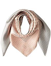 [光束 设计] 围巾 丝绸 粉色 50606503A 日本 64cm×64cm (FREE サイズ)