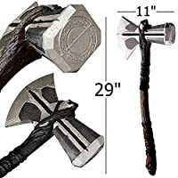 YPL Stormbreaker 泡沫道具复制品 Odinson Hammer Axe 角色扮演雷神服装道具 43.18 厘米雷神 Mjolnir of Norse