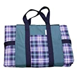 Tuffo Water Resistant Outdoor Blanket Green Plaid