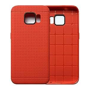 三星 Galaxy S7 Edge 手机壳【防滑】TPU 硅胶凝胶材质防滑防震防滑防滑防滑防滑防滑防滑表面带优质保护套适用于三星 S7 Edge 红色