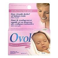OVOL 婴儿滴剂,快速温和缓解婴儿胀气 15 毫升,加拿大制造