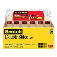 3M Scotch 双面胶带,1.27 x 500 英寸,6 个分配器/包 (6137H-2PC-MP) 1件