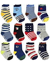 LAISOR 防滑棉质带握把袜 适合幼儿 男童