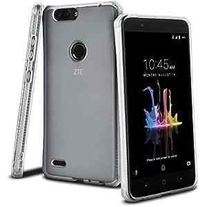 Celljoy 手机壳兼容中兴刀片 Z Max、中兴红杉 [[日落渐变 TPU]] - 高强度缓冲 - 透明 - 彩色 - 弹性 - 极度跌落保护 水晶透明