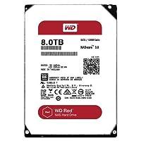 WD 西部数据 8TB NAS硬盘驱动器 - 5400 RPM等级 SATA 6 Gb/s 128MB缓存 3.5英寸 WD80EFZX
