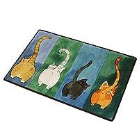 CHOOLD 可爱猫咪提臀卧室区域地毯,猫地毯,猫尾部防滑吸水门垫,卧室客厅厨房浴室 多色 40 * 60cm 43237-2