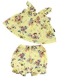 Anna Nicola 花朵图案 吊带衫&马桶套装 AN10-54B F50 日本制造 粉色 80