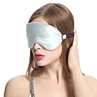 Lilysilk遮光护眼真丝眼罩睡眠 舒适透气桑蚕丝睡觉眼罩男女用 缓解眼疲劳助睡眠/水绿
