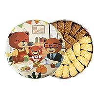 珍妮曲奇(JennyBakery)小熊饼干 手工制造 ((咖啡+牛油)双拼小花, 640g)