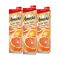 爱美可 Amecke果汁德国进口果汁原装鲜榨果汁进口果汁鲜榨葡萄柚汁1L*3瓶装