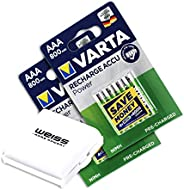 Varta Power Accu 1000 mAh Rechargeable AAA Batteries - 4-Pack