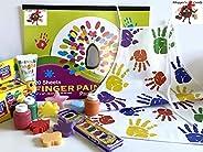 手指颜料可水洗儿童艺术套装罩衣纸板海绵形状 Crayola 浴缸肥皂*