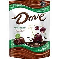 DOVE 水果巧克力零食袋 Dark Chocolate & Real Cherries 6-oz. Bag (Pack of 8)