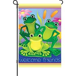 Premier 51305 花园亮丽旗帜,花园青蛙,12 x 18 英寸