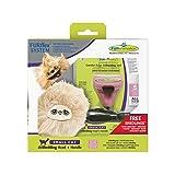 FURminator furflex , 美容梳子适用于小猫 , deshedding - 工具的距离的子羊毛 , 尺码 S 红色 S