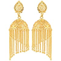 Bodha 传统金色设计师 Jhumki 耳环 (SJ_655)