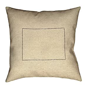 ArtVerse Katelyn Smith Colorado 轮廓 45.72cm x 45.72cm Pillow-Spun 涤纶