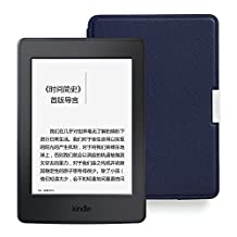 Kindle Paperwhite电子书阅读器 + 原厂真皮保护套超值套装(包含Kindle Paperwhite电子书阅读器-黑、亚马逊真皮保护套-墨水蓝)