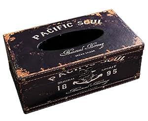 Lalago 木制复古纸巾盒夹纸巾盒盖餐巾盒 餐巾纸盒 Pacific Soul 14121339