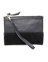 真皮腕包钱包,带可拆卸腕带